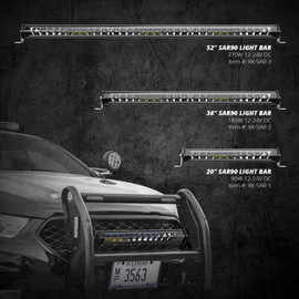 "Add-on SAR Search & Rescue Light bar 20"" 36"" 52"""