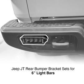 "Jeep JT Rear Bumper 6"" Bar Bracket Set"