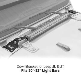 Cowl Light Bar Bracket for Jeep Gladiator JT & Wrangler JL