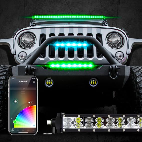Multi-color RGBW LED Light Bars | XKchrome Smartphone App