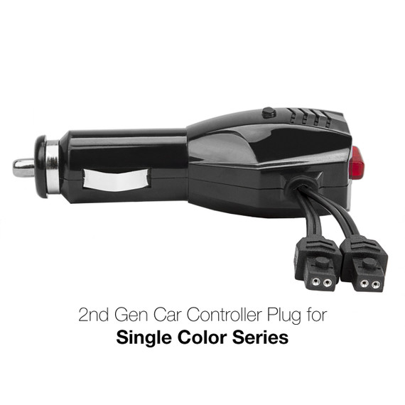2nd Gen 12V Control Plug with 3 mode button Single Color Series