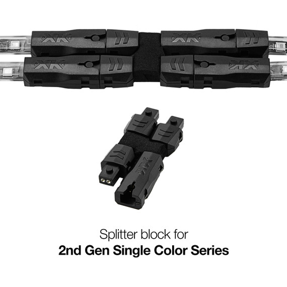 2nd Gen 2 pin Splitter for LED Single Color Series