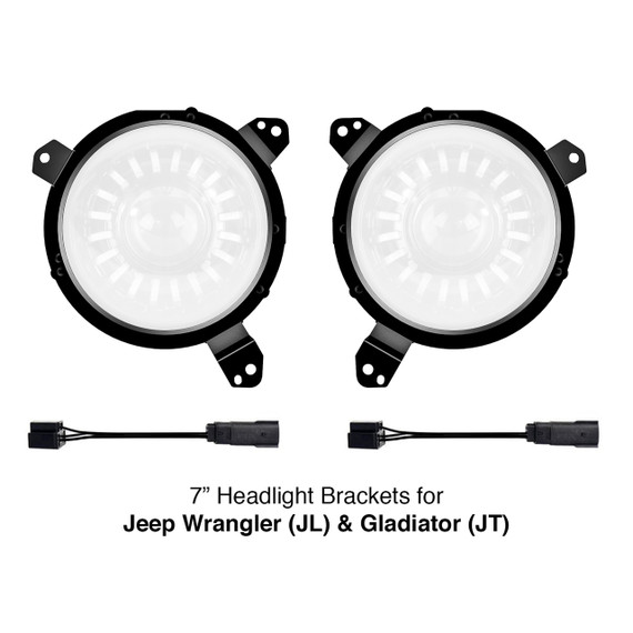 "Universal 7"" Headlight Mounting Brackets"