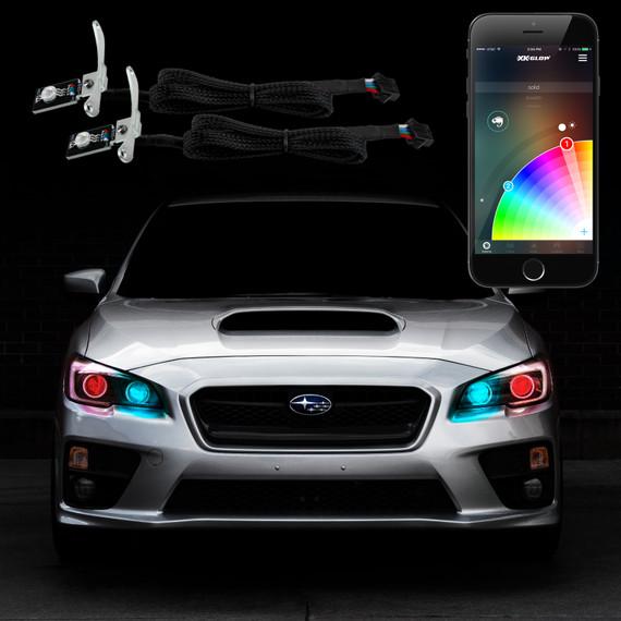 2pc RGB Devil Eye Kit XKchrome smartphone app controlled