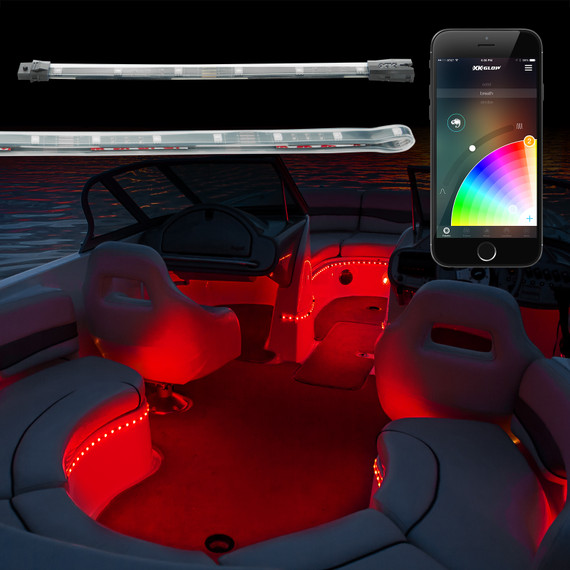 App Controlled Boat Light Kit used to accent the boat in any selected color.