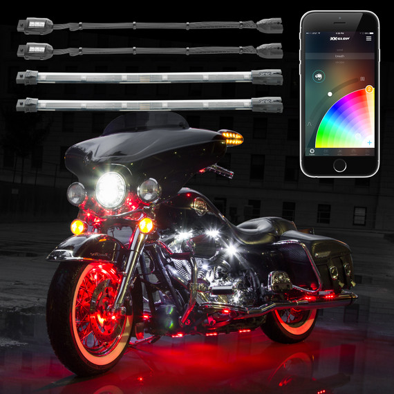 2nd gen XKchrome App Control Motorcycle Professional LED Accent Light Kit