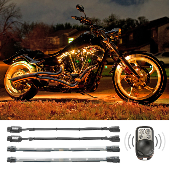 7 Color Remote Control Motorcycle ATV Snowmobile LED Light Kit