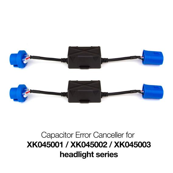 Capacitor error canceller for XK045001 / XK045002 / XK045003 Headlight series