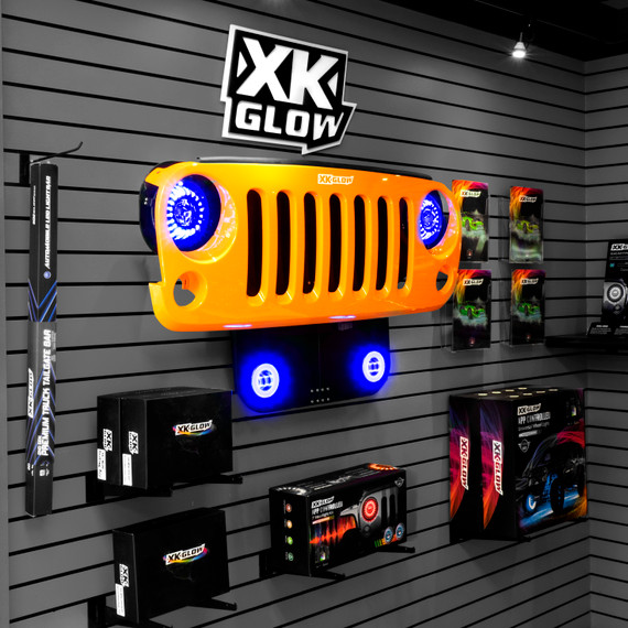 Jeep Grill Display set up in a retail environment