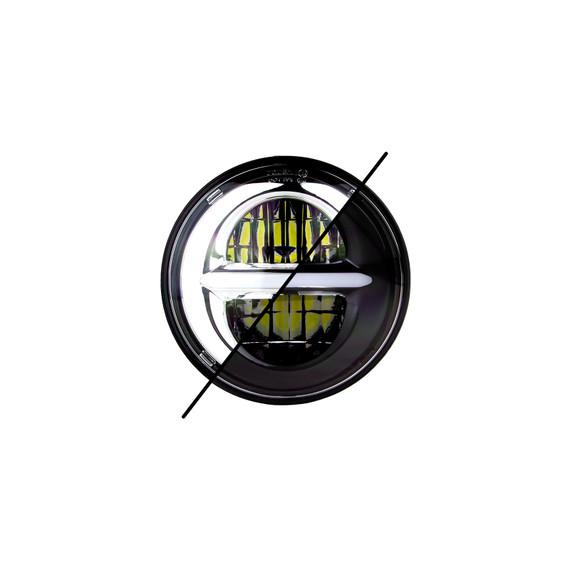 "5.75"" RGB LED Harley Headlight XKchrome Bluetooth App Controlled Kit - No Controller"