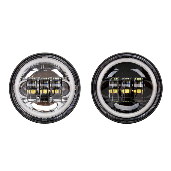 4.5in Chrome/Black Harley Running Light Add-on Kit