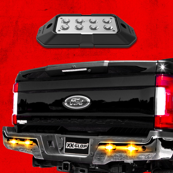 Strobe Lights w/ Traffic Modes Ultra Bright LEDs Multiple Strobe modes + Solid On