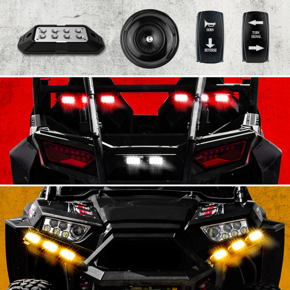 UTV Turn Signal Brake Light + Horn Kit