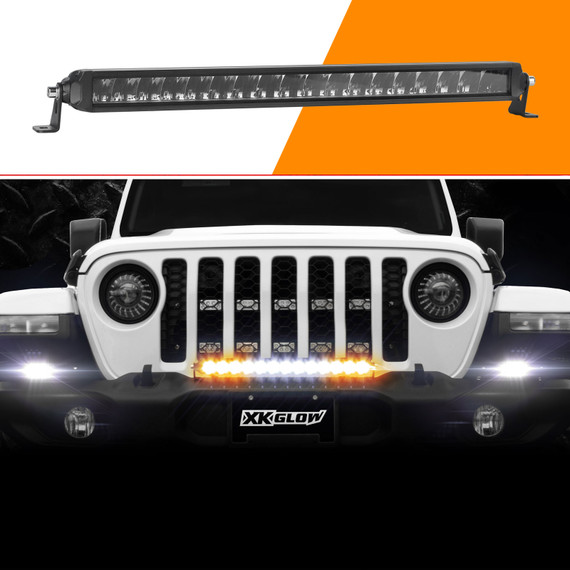 """20"""" Fog + Strobe + High Beam LED Light Bar Add-on Without Switch+Wire"""