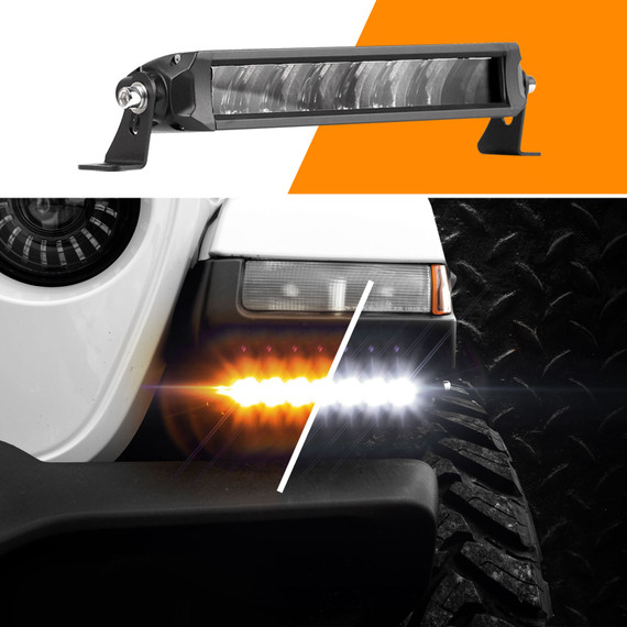 "6""-10"" Fog + Strobe  LED Razor Light Bar Add-on Without Switch+Wire"