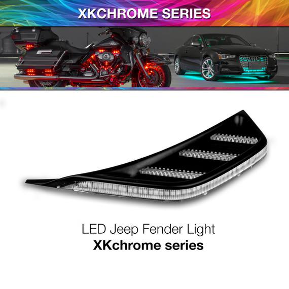 ADD ON RGB+AMBER JEEP JL&JT FENDER VENT LIGHT - NO CONTROLLER