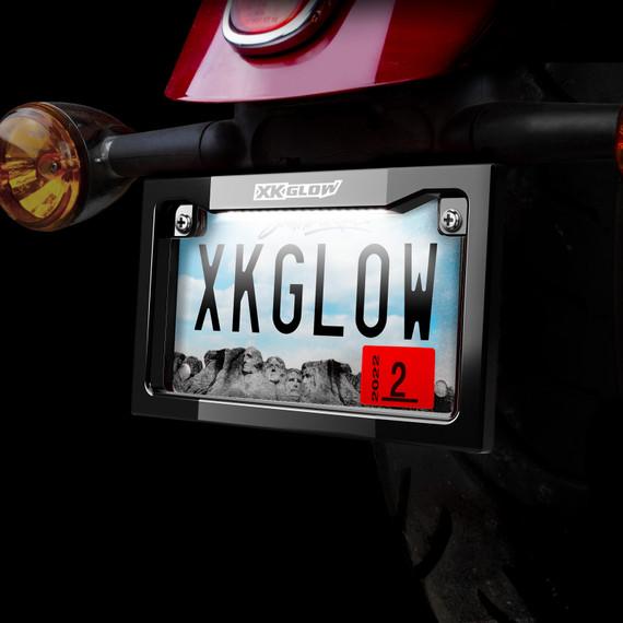 Motorcycle LED License Plate Frame