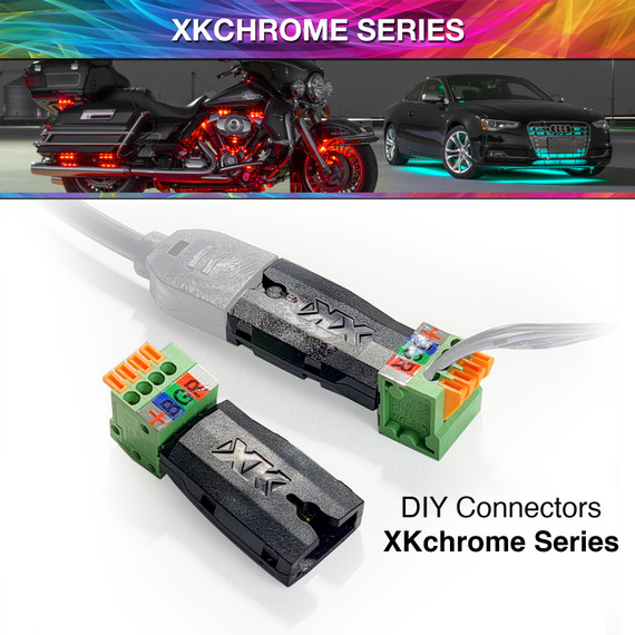 2 DIY Hardwire Connectors | XKchrome or 7 Color Add On