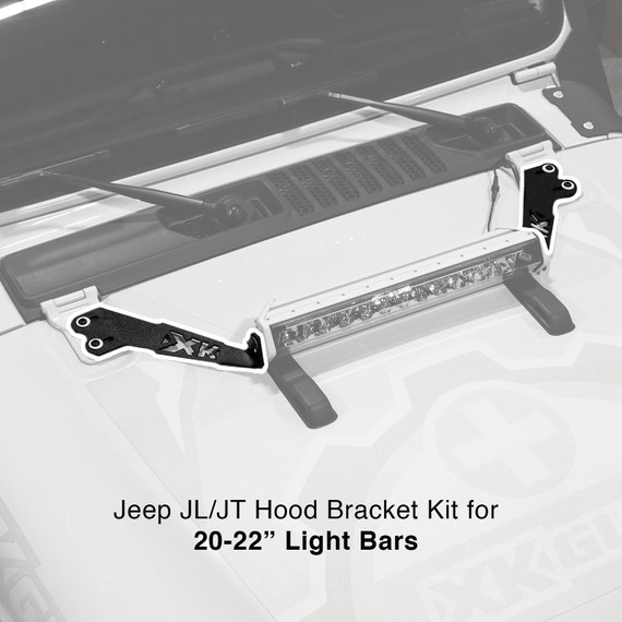 """Jeep JK JL JT Hood 20"""" Bar Bracket"""
