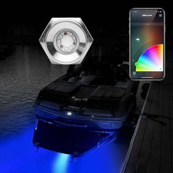 1pc 13W RGB LED Drain Plug Light Kit for Boat