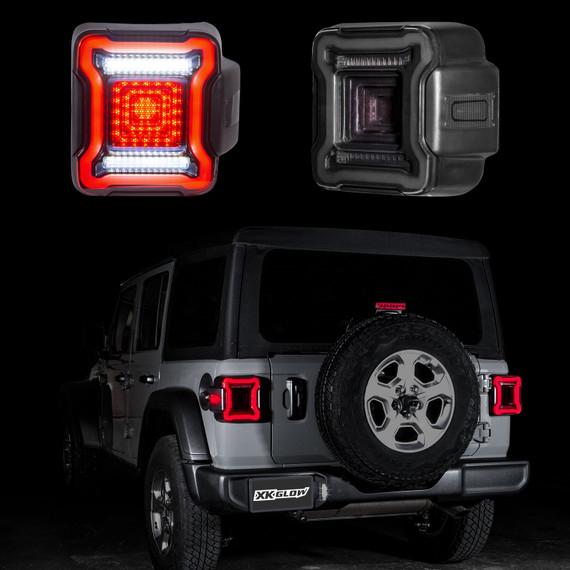 LED Smoked Lens Tail Light Kit for Jeep Wrangler JL with Brake Turn Reverse