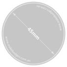 45mm diameter badge