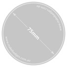 Promotional Badges 75mm Covid-19