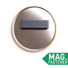 COVID-19 physical distancing badge magnetic fastener