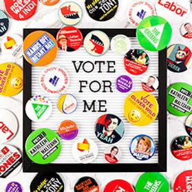 Election Campaign Badges
