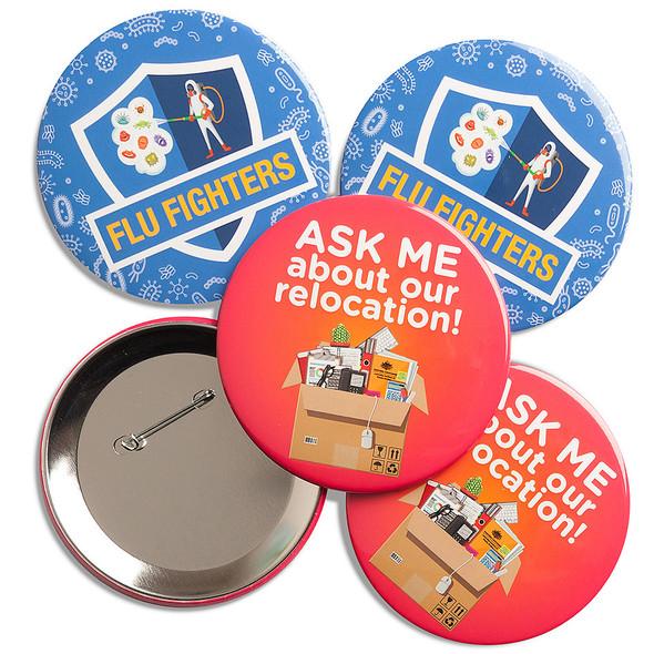 89mm diameter badges