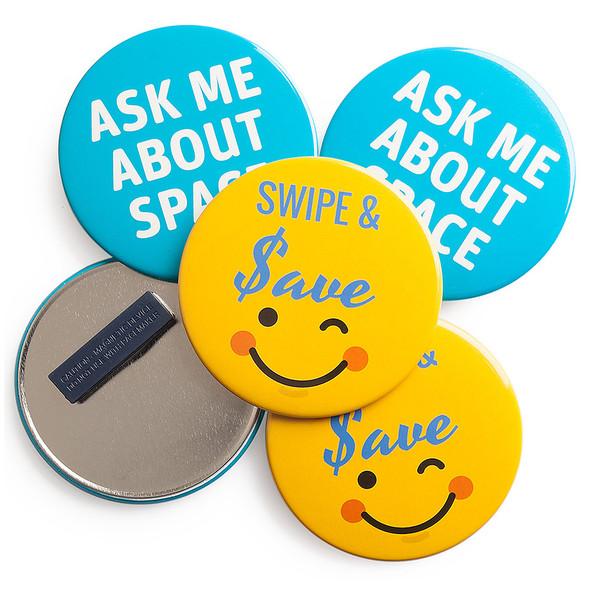 Promotional Badges Magnet Fastener 89mm