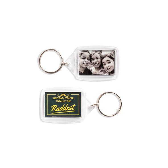 Custom Printed 55mm x 36mm Key Ring