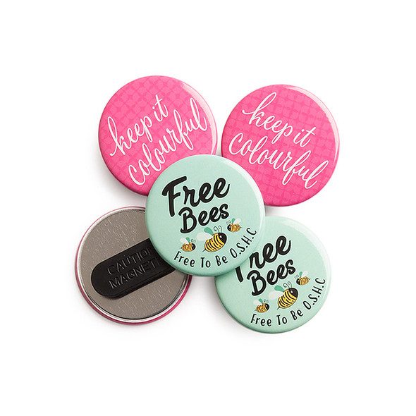 45mm Custom Printed Badges Magnet Fastener