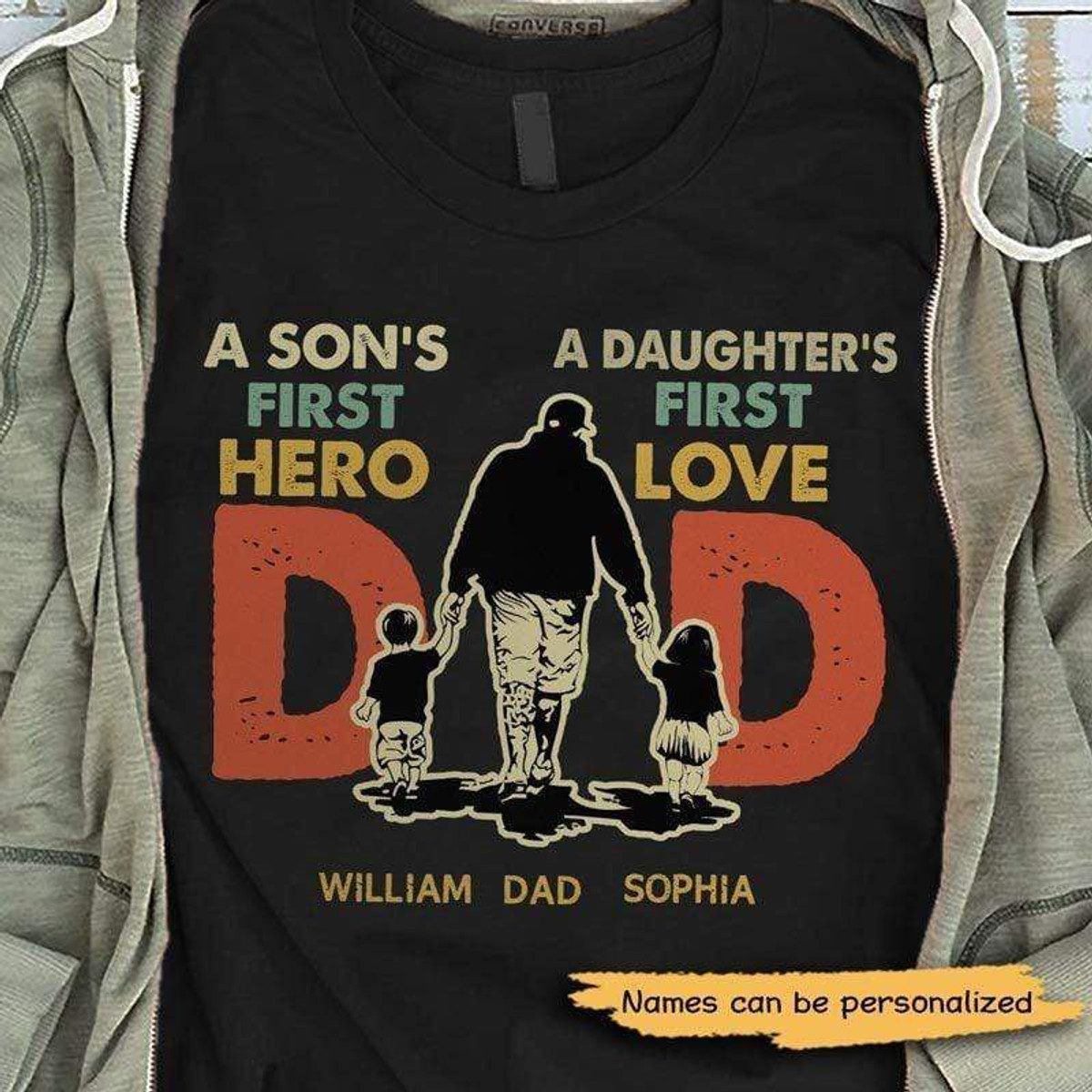 Dad Fathers Day Gift Shirt son daughter love Unisex Tee