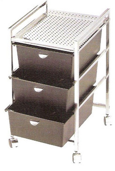 Pibbs 3 draw Pedicure Cart