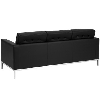 Lacey Contemporary Black Leather Sofa