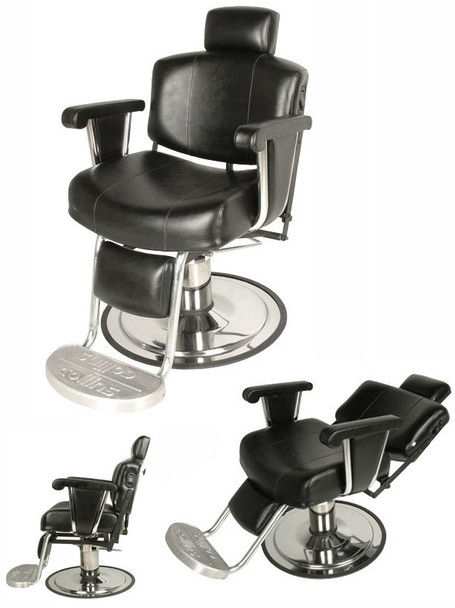 Collins Continental Barber Chair w/ Kick-Out Legrest