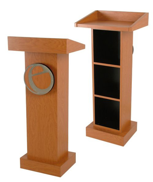 Collins Classroom Lectern with school's LOGO
