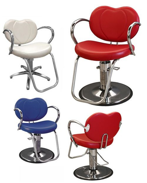 Collins Bella Hydraulic Styling Chair w/ Chrome Round Base