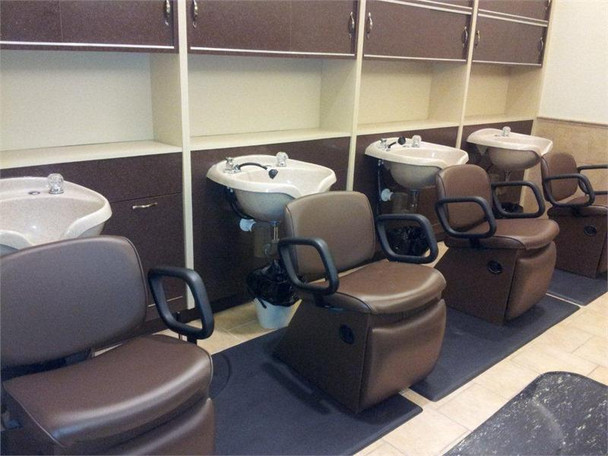 Collins Shampoo Chairs and Collins Cabinets