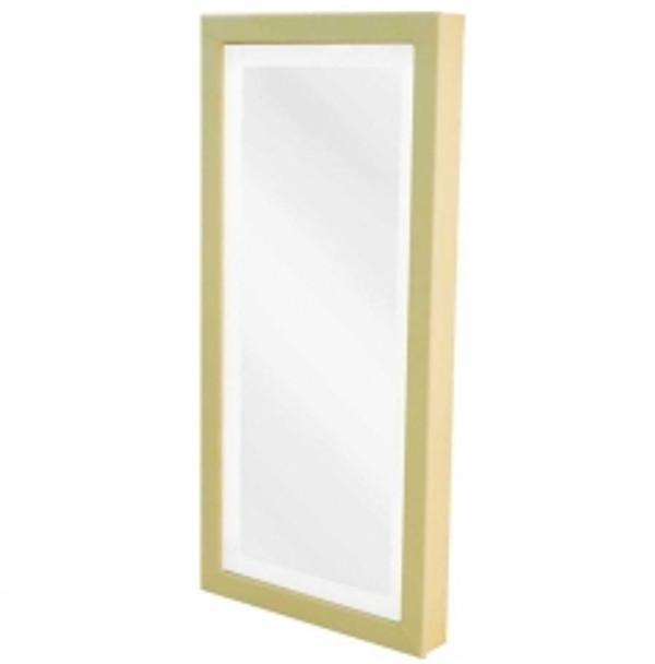 Belvedere custom fabric lighted mirror panel