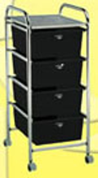 UTILITY ROLLABOUT CART with 4 DRAWERS