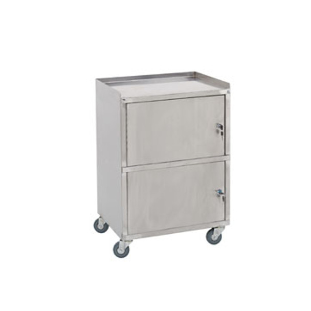 Paragon Stainless Steel Facial Cart  2 Lockable Compartments