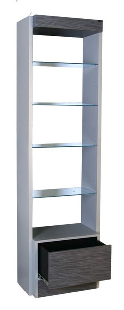 Collins Edge Retail Display w/ Glass Shelves and Drawer