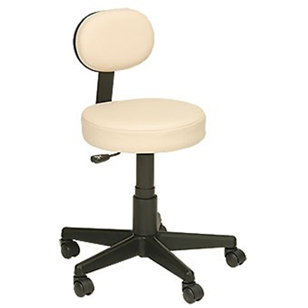 """Earthlite Pneumatic Rolling Stool with Back Support(19.75""""-27.75"""")"""