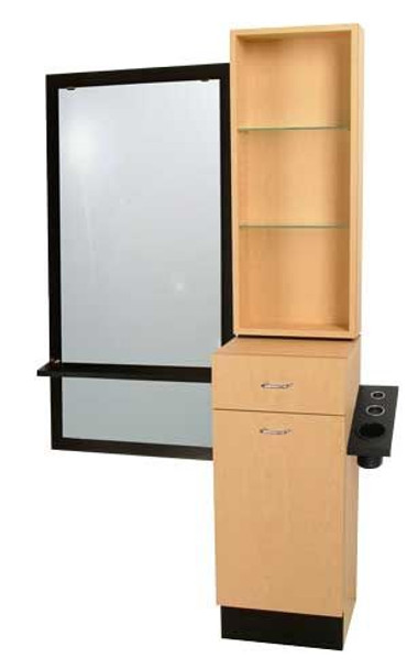 Jeffco Java RETAIL Styling Vanity w/ J05 Java Mirror & Ledge