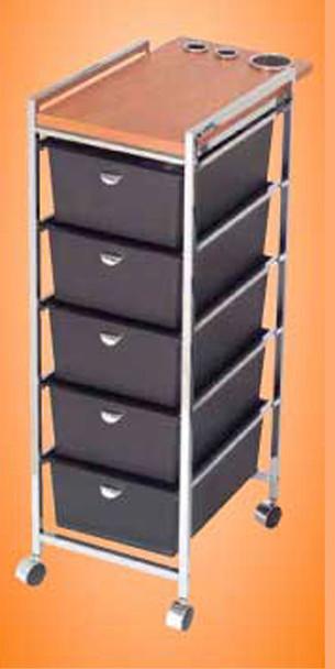 Pibbs Wooden Top Utility Cart, Appliance Holders