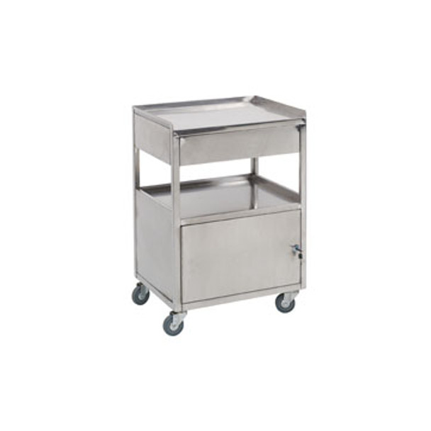 Paragon Stainless Steel Facial Cart w/ Lockable Storage