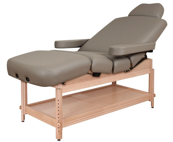 Oakworks Clinician Adjustable Lift-Assisted Salon Top Massage Table