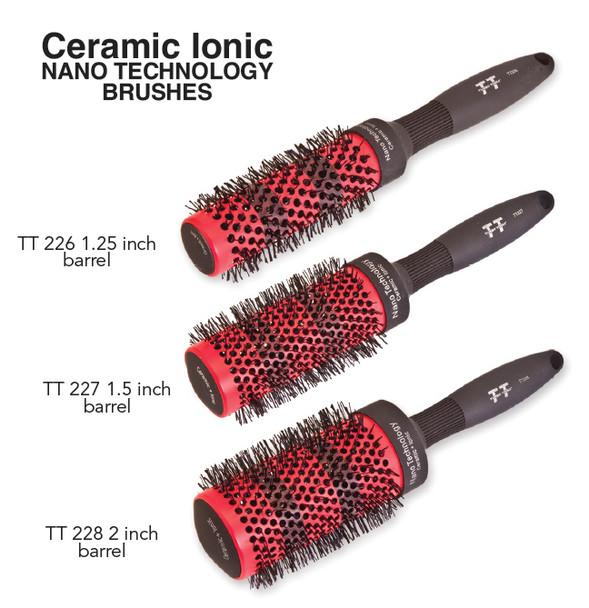 Ceramic ionic nano technology brush